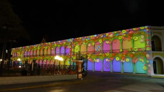 Campeche Video Mapping Parque Central