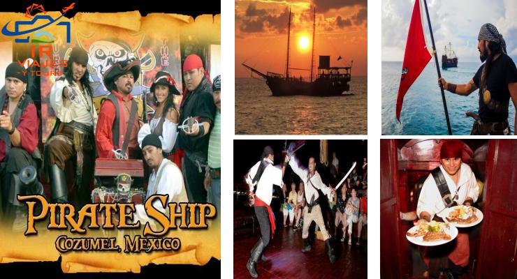 Jean Laffite Pirate Cozumel Cena y Show Pirata Cozumel
