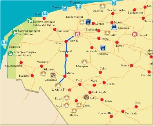 Mapa Tours Merida