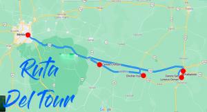 Ruta del Tour Chichen Itza Pueblos Magicos Hacienda Mas Cenotes
